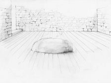 Hanging Stone House Drawing
